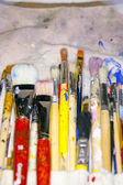 Lots of various artists brushes — Stock Photo