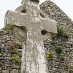Old celtic cross head stone — Stock Photo #69907981