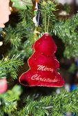 Christmas tree decorations and lights — Zdjęcie stockowe