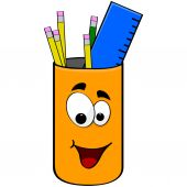 Can of pencils — Stock Vector