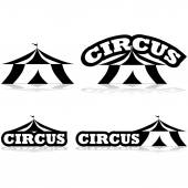 Circus icons — Stock Vector