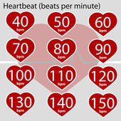 Heartbeat infographic — Vetorial Stock