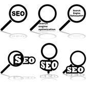 Optimalizace pro vyhledávače — Stock vektor