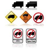 Truck signs — Stock Vector