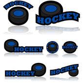 Hockey icons — Stock Vector