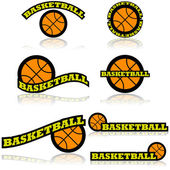 Basketball icons — Stock Vector