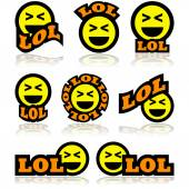 Laughing icons — Stock Vector