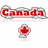 Canada with snow — Stock Vector