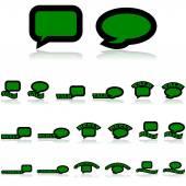 Talk icons — Stock Vector