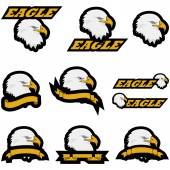 Eagle icons — Stock Vector