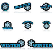 Winter icons — Stock Vector