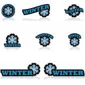 Winter icons — Stock Vector