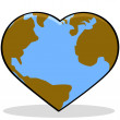 Love Earth — Stock Vector #53654523