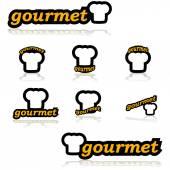 Gourmet icons — Vettoriale Stock