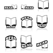 Read icons — Stock Vector
