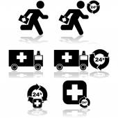 Atención de emergencia — Vector de stock