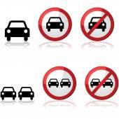 Samochód znaki drogowe — Wektor stockowy