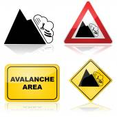 Avalanche signs — Stock Vector