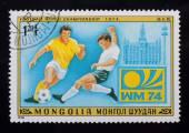 Post stamp. Football — Stok fotoğraf