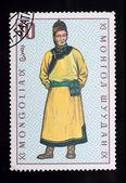 Sello de correos. Ropa mongol — Foto de Stock