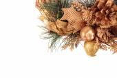 Happy New Year. Christmas wreath — Stock Photo