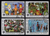 Post stamp. Children — Stock Photo