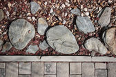 Cobble stone, chips, pebble texture — Stock fotografie