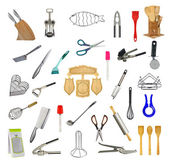 Collage of kitchen tools and accessories — Stock Photo