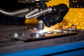 Industrial cnc plasma cutting machine — Стоковое фото