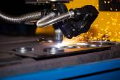 Industrial cnc plasma cutting machine — Stock fotografie