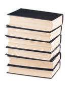 Six black cover books  — Stock fotografie