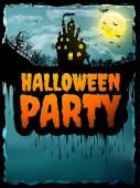Happy Halloween party Poster. EPS 10 — Stock Vector