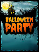 Happy Halloween party Poster. EPS 10 — Stock Vector