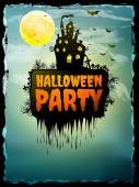 Happy halloween party affisch. Eps 10 — Stockvektor