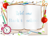 Welcome Back to school supplies. EPS 10 — Stock Vector