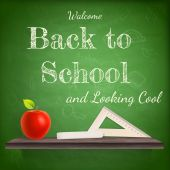 Back to school background template. EPS 10 — Stock Vector