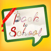 Back to school background. EPS 10 — Stock Vector