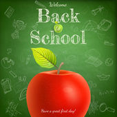 Welcome back to school template. EPS 10 — Stock Vector
