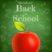 Welcome back to school template. EPS 10 — Vettoriale Stock