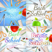 Set of Welcome back to school template. EPS 10 — Stock Vector
