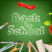 Welcome back to school. EPS 10 — Stock Vector