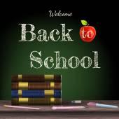 Back to school, school books. EPS 10 — Stock Vector