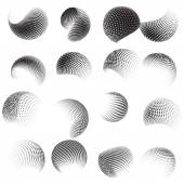 Collection of halftone sphere template. EPS 10 — Stock Vector