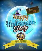 Cartel de fiesta de halloween feliz. eps 10 — Vector de stock