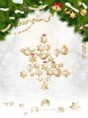 Christmas balls hanging on fir tree. EPS 10 — Stock Vector