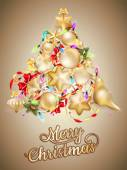 Christmas card with place for text. EPS 10 — Stockvektor