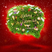 Christmas fir tree Bubble for speech. EPS 10 — Stockvektor