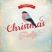 Christmas party poster. EPS 10 — Stockvektor