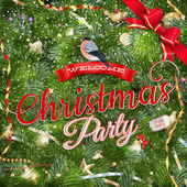 Christmas Party poster design template. EPS 10 — Stock Vector