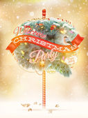 Christmas fir tree - Bubble for speech. EPS 10 — Stock Vector